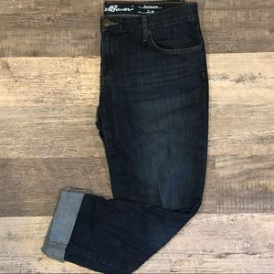 Eddie Bauer boyfriend fit jeans in dark wash